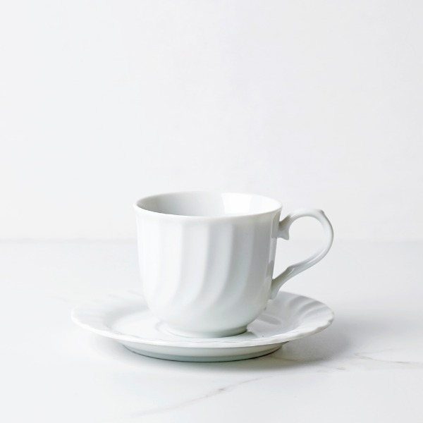 wave shape coffee cup
