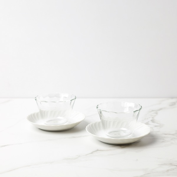 glass dessert bowl set (each)