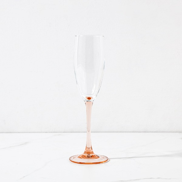 pink Champagne Glass