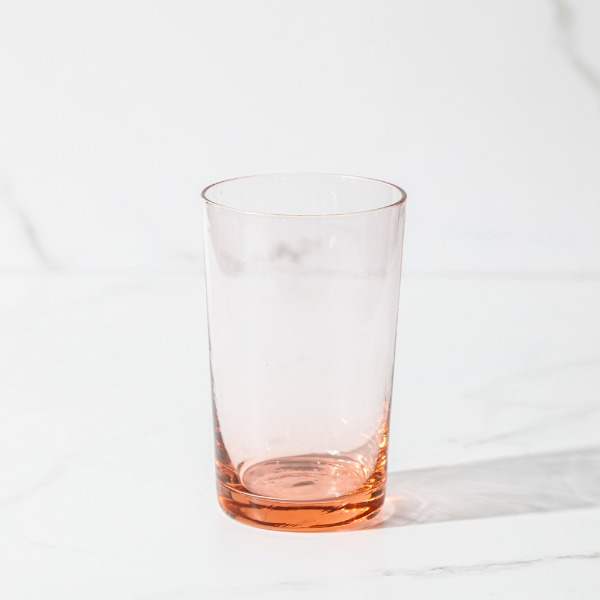 pink glass cup