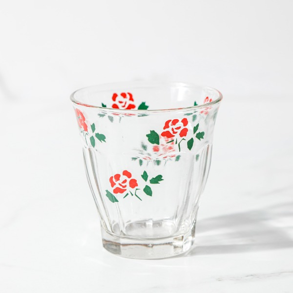 rose pattern cup