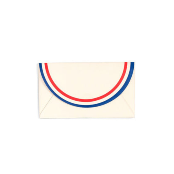 all business card holder - parisian stripe